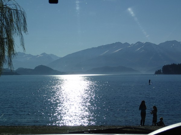 View across Lake Wanaka